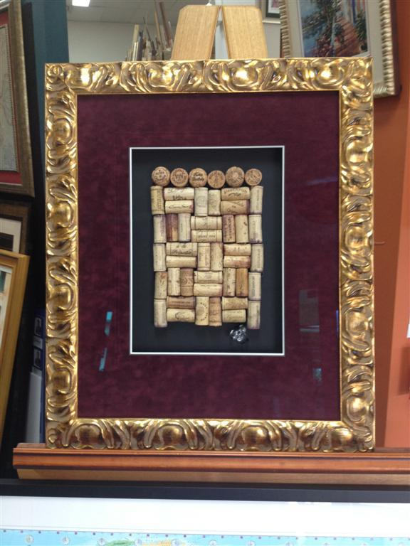 french wine corks inside frame