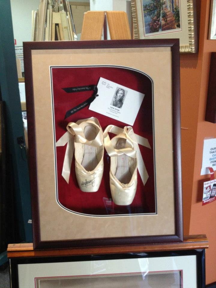 lana jones autographed ballet shoes